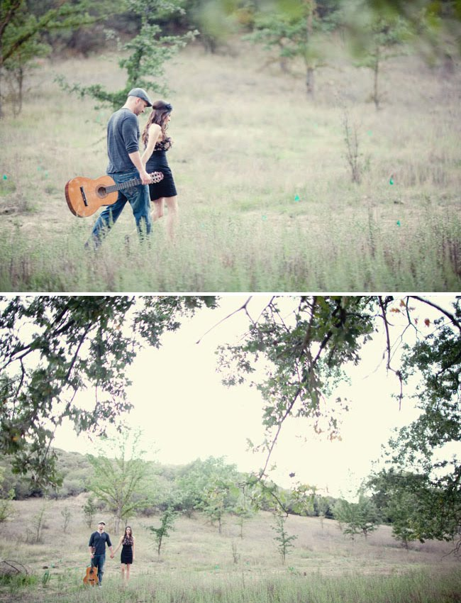 engagement photos with guitar