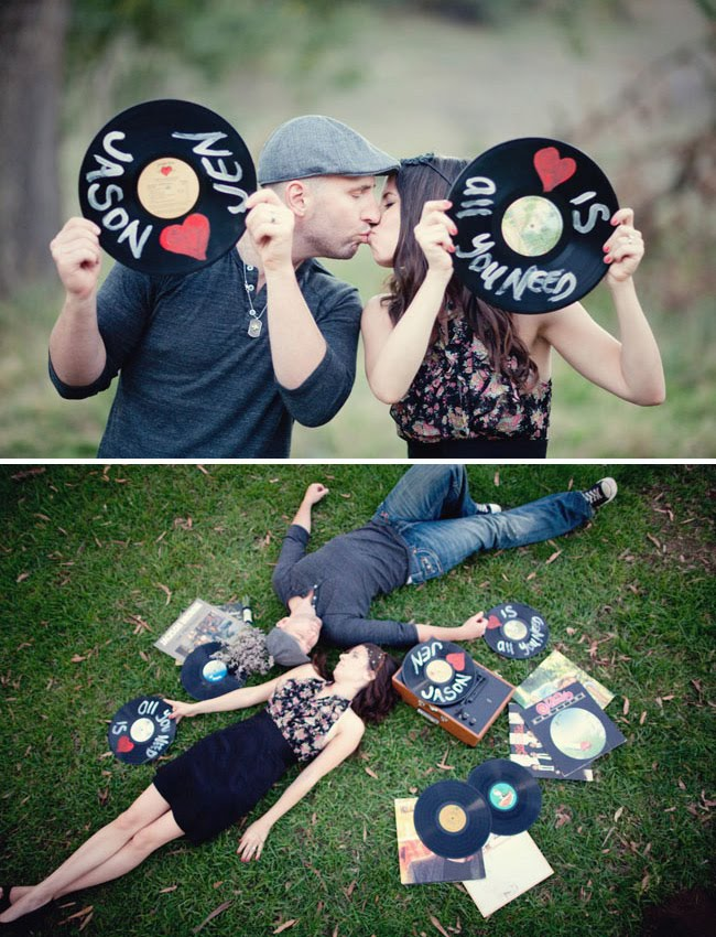 records for engagement photos