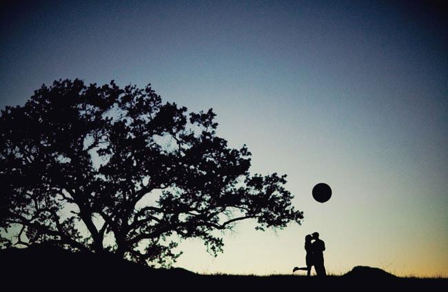 balloon silhouette photo
