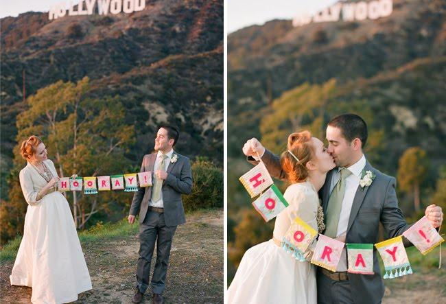 hooray wedding banner