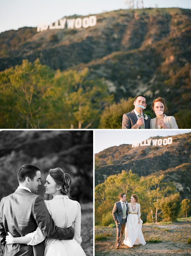 hollywood hills wedding photos
