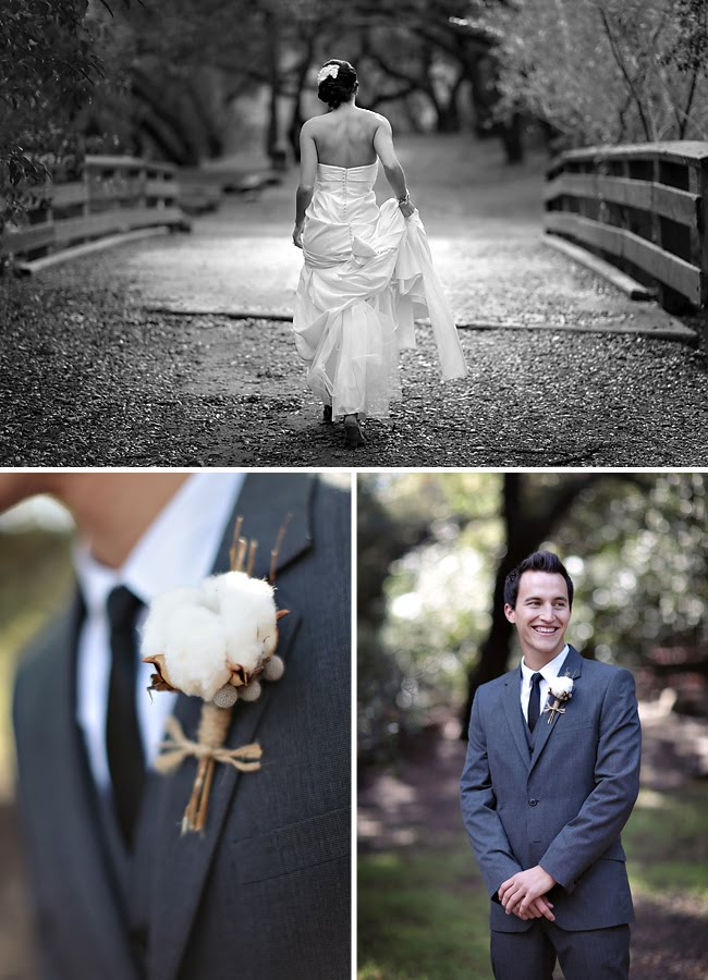 cotton boutonniere