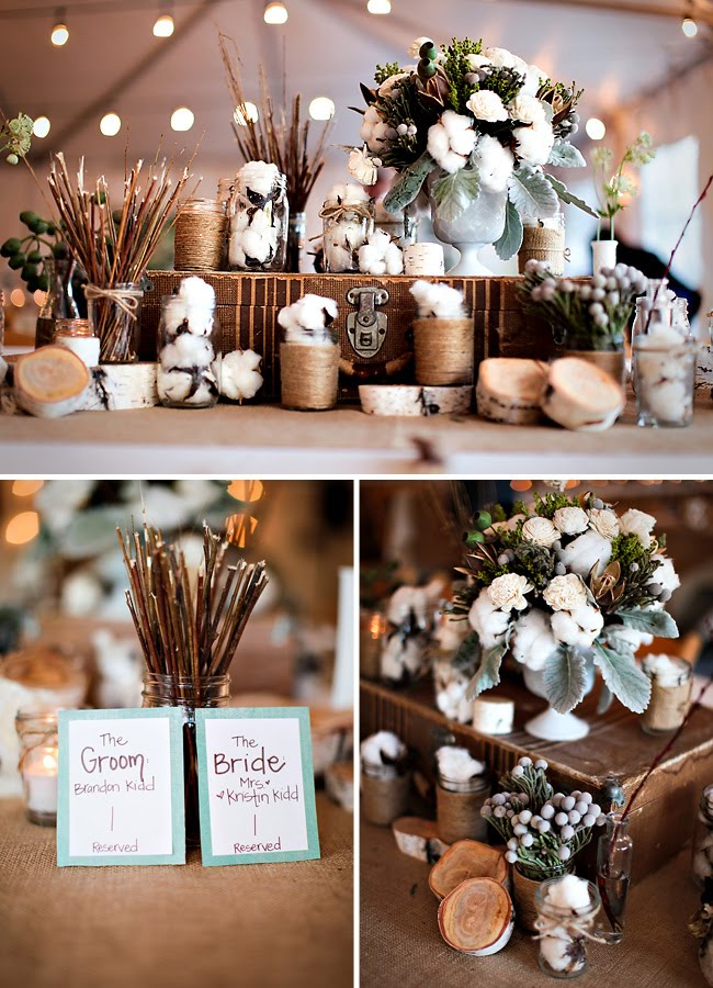 Real wedding kristin brandons woodsy organic wedding green cotton wedding details junglespirit Gallery