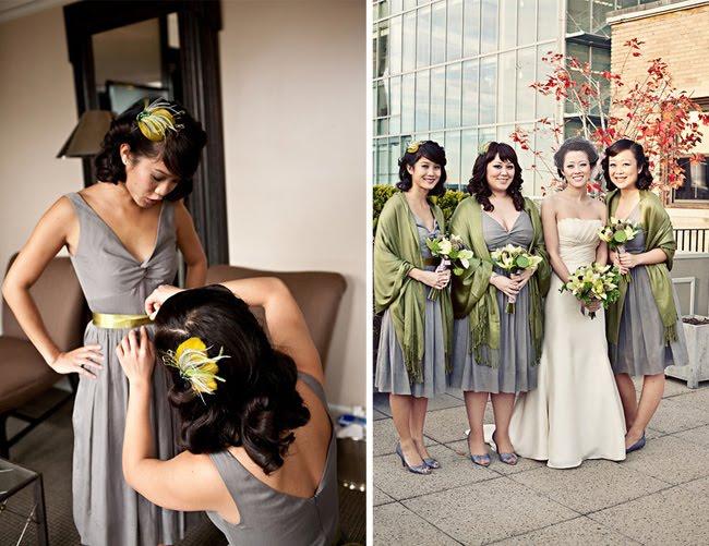Real Wedding: Ginger + Adam\'s Modern Chic Boston Wedding - Green ...