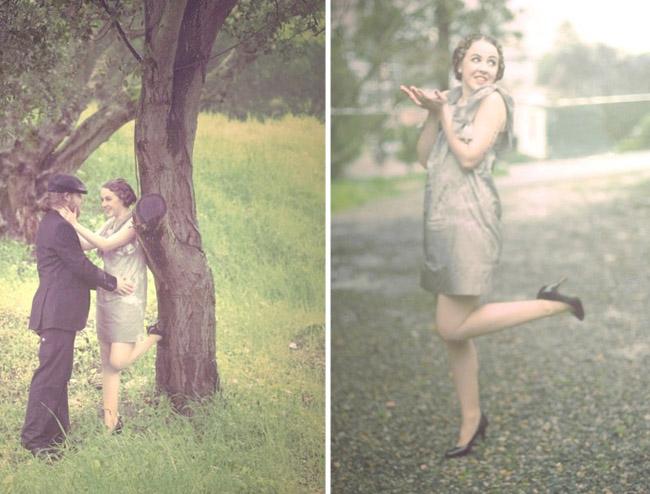 french postcard with a cute leg kick