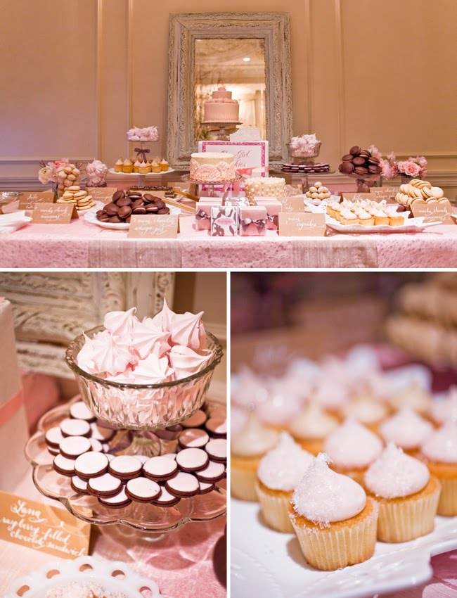 A Sweet Pink Dessert Table - Green Wedding Shoes