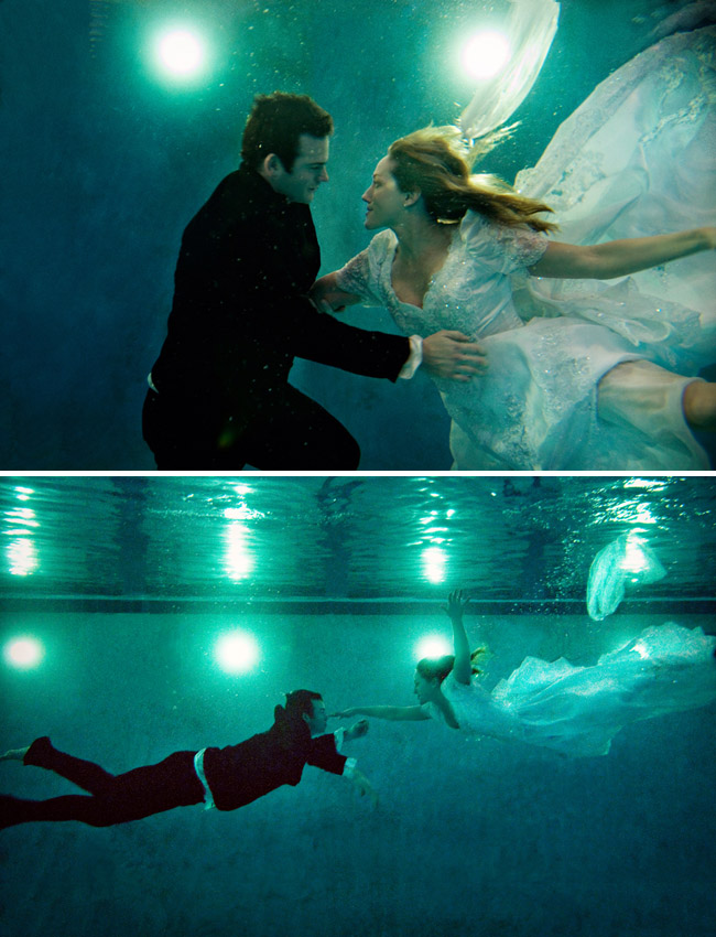 underwater engagement photos