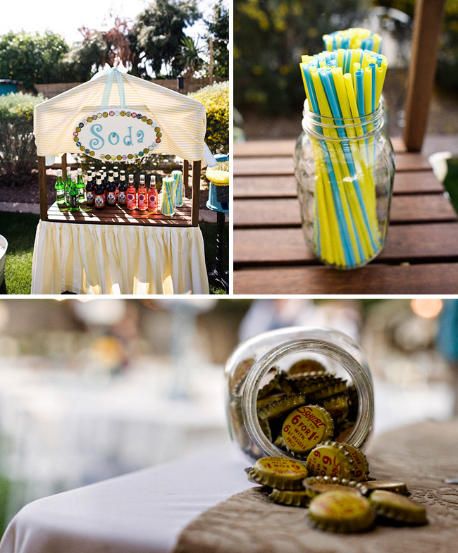 vintage soda bar wedding reception
