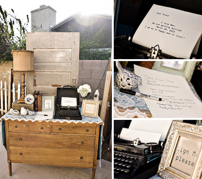 wedding guestbook typewriter