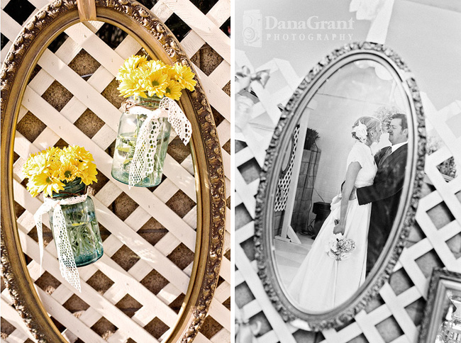 vintage picture frames flowers wedding