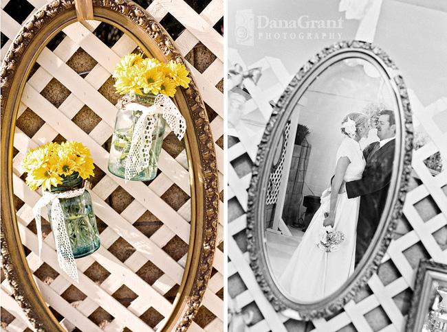 vintage picture frames flowers wedding