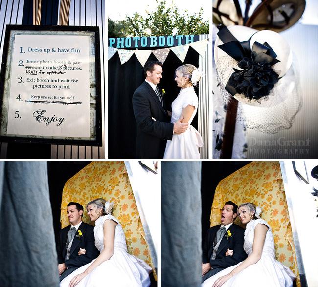Real Retro Weddings: Real Wedding: Catie + Ben's Vintage Inspired Backyard