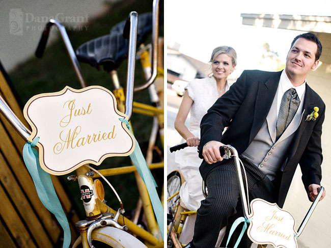 wedding bike getaway