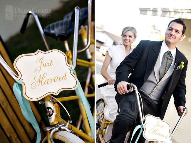 wedding bike getaway