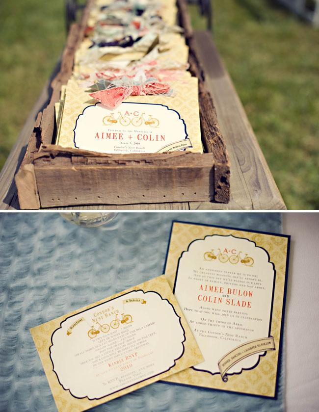 invitations in a wood box