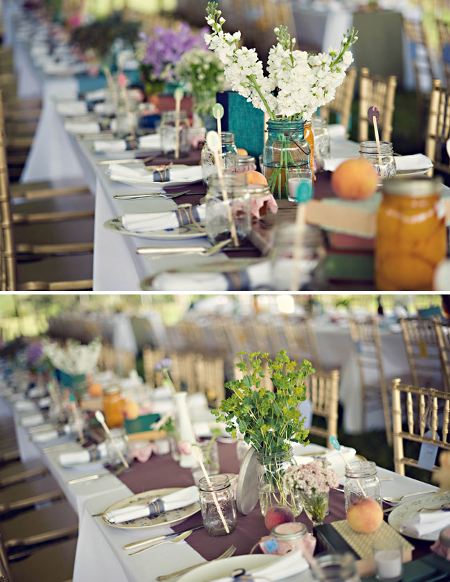 Anthropologie wedding design table reception