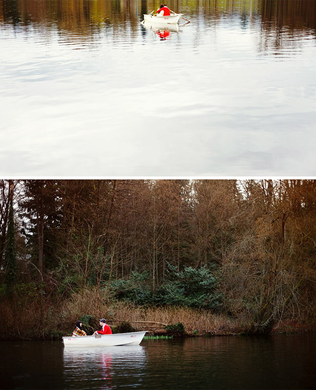 couple in love on boat