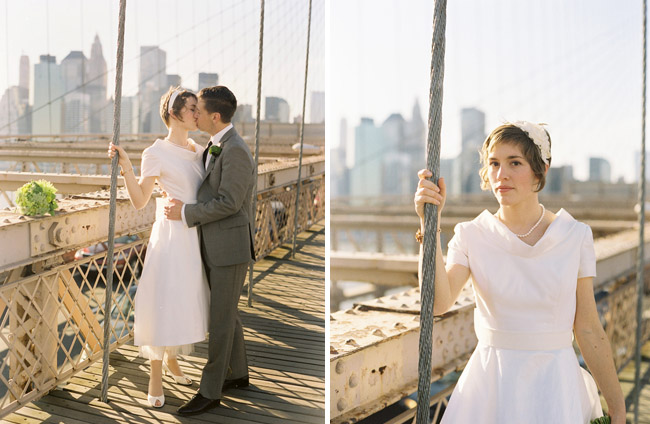 brooklyn bridge bride and groom