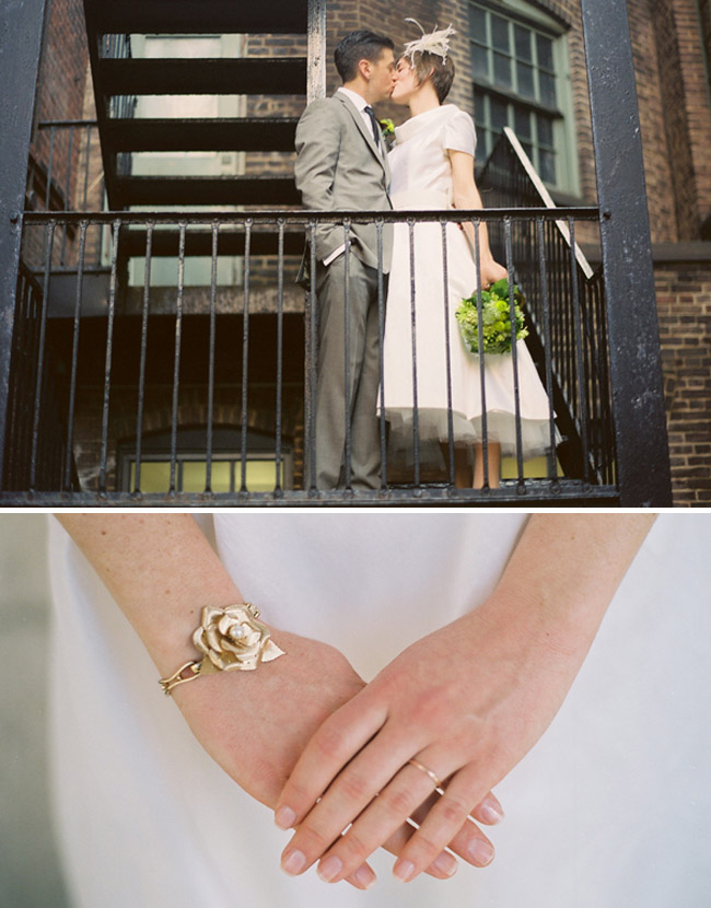 wedding bracelet stairwell