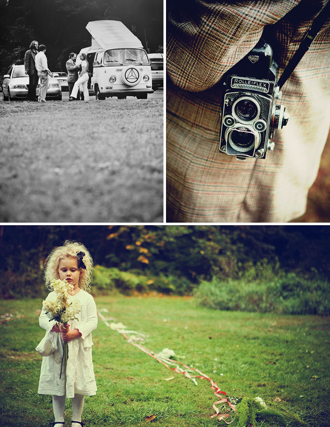 flower girl vw bus wedding