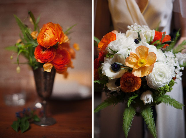 wedding flowers orange white