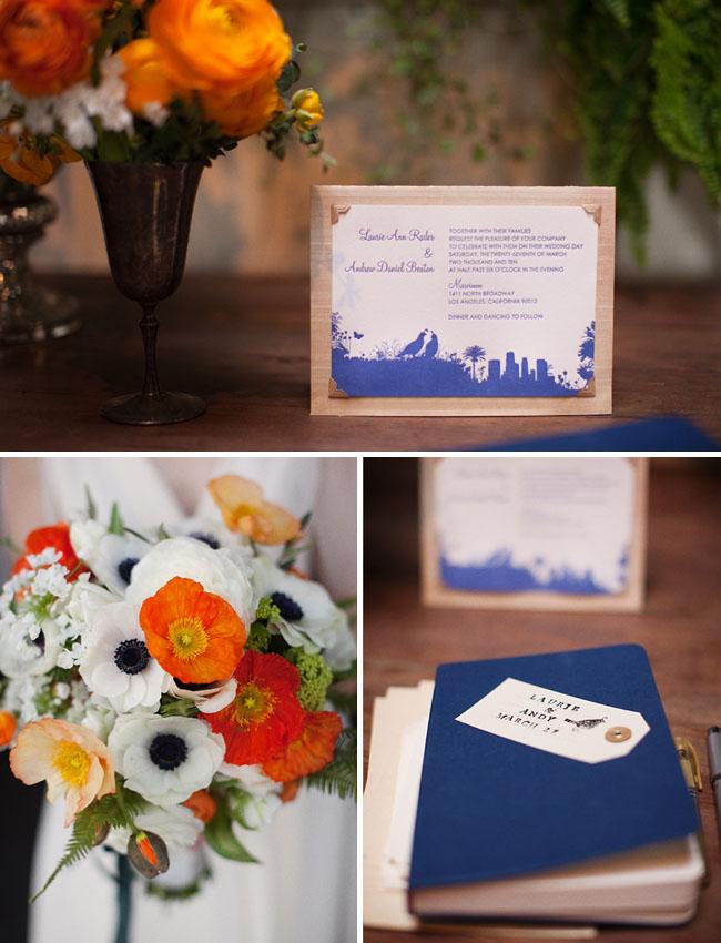 anemones wedding bouquet