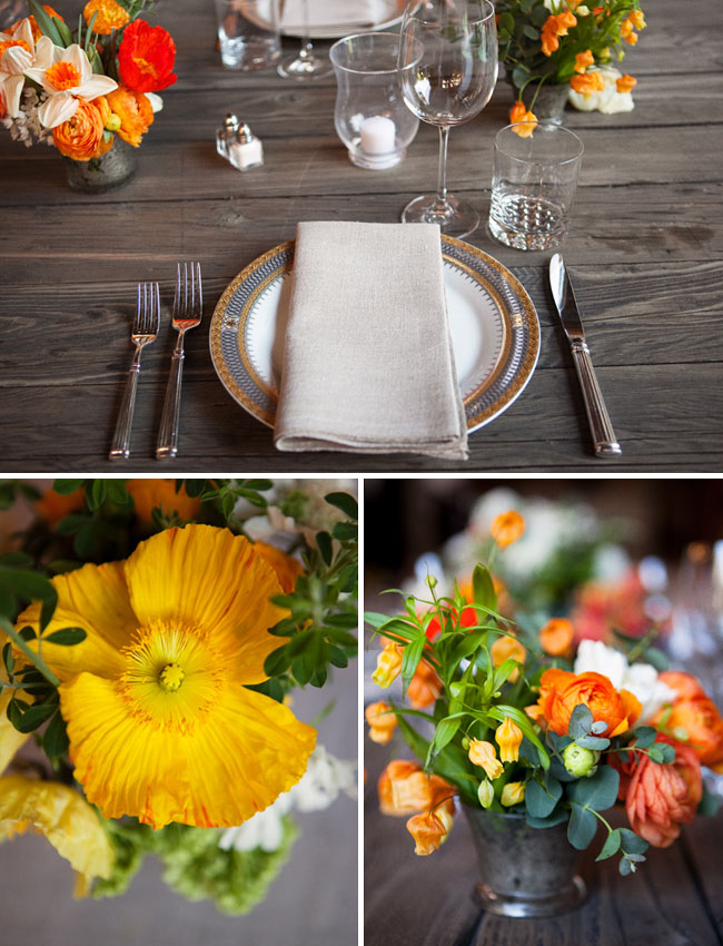 yellow orange wedding colors