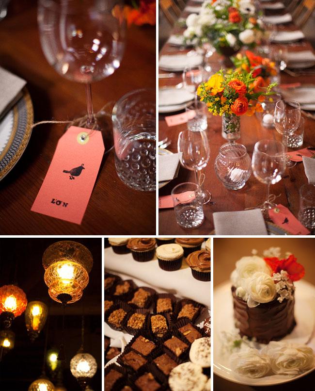 wedding cupcake paper tag