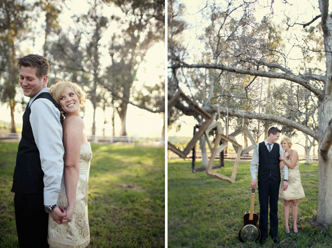 engagement photos frames hanging on tree