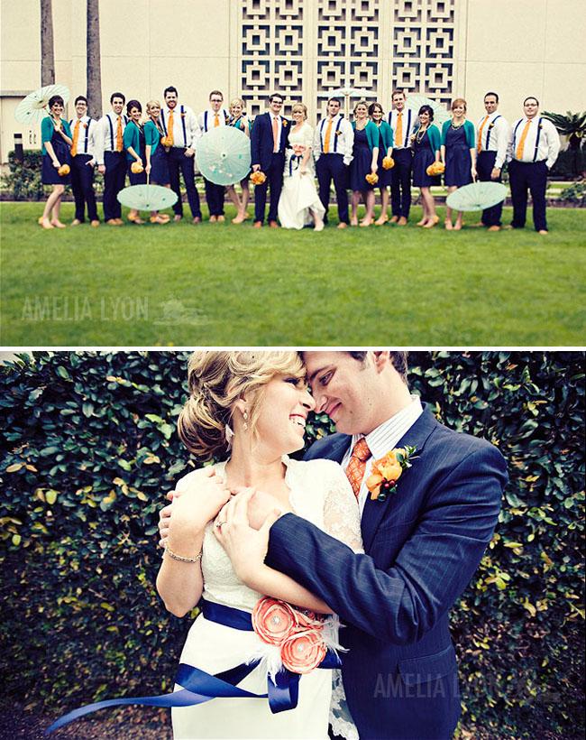 wedding bridal party umbrellas