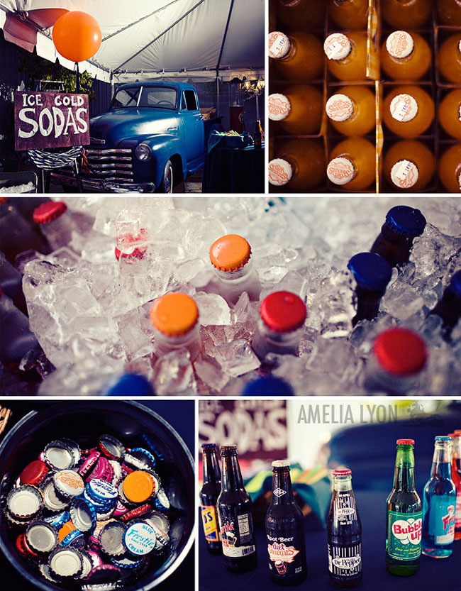 soda bar wedding vintage