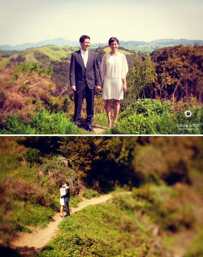 short wedding dress outdoor wedding