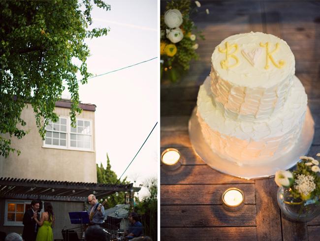 wedding cake backyard
