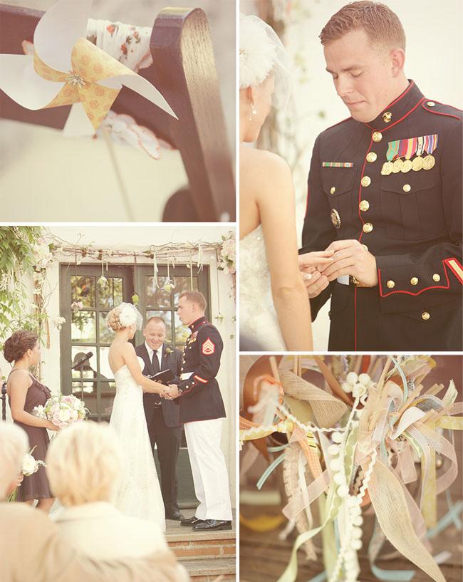 backyard wedding pinwheels