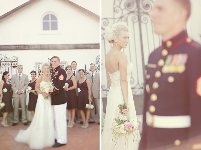 wedding party military uniform