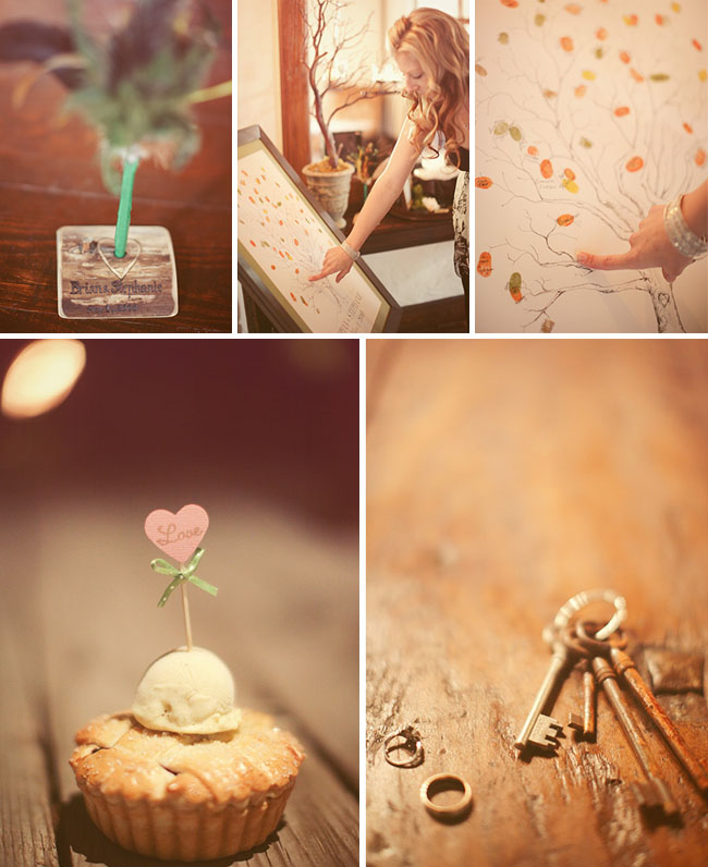 wedding desserts and fingerprint wedding tree