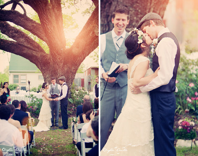 wedding ceremony oak tree