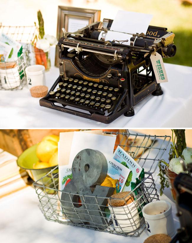 typewriter as guestbook wedding
