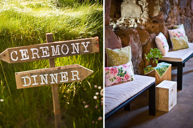 wedding sign made of wood