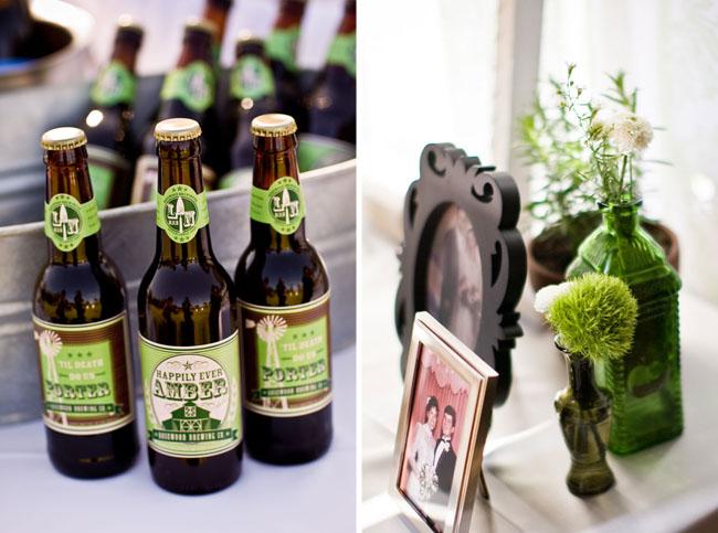 wedding beer bottles with custom labels