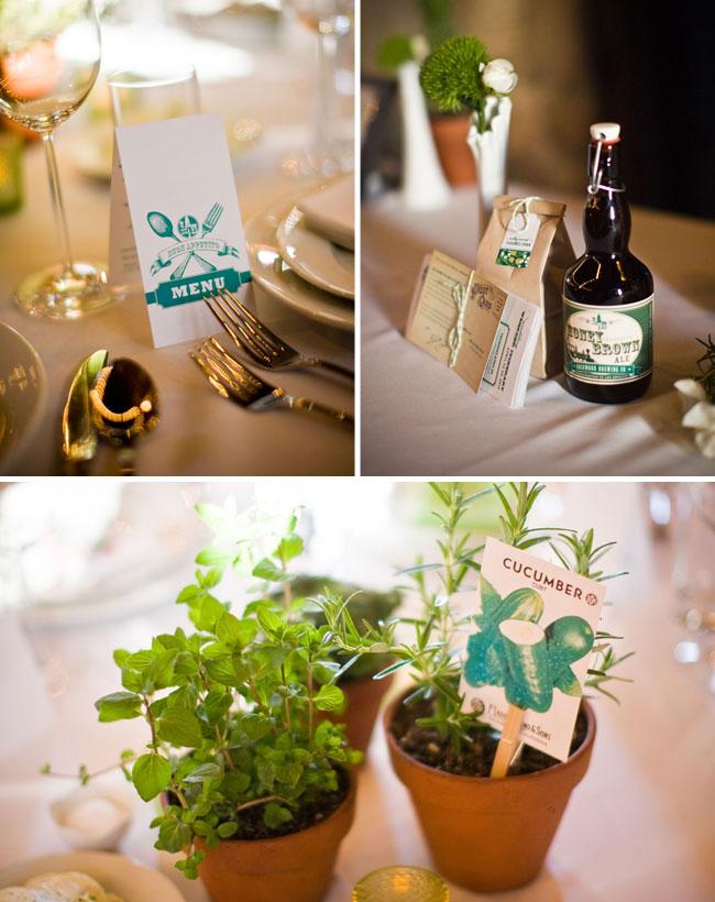 plants as wedding decor