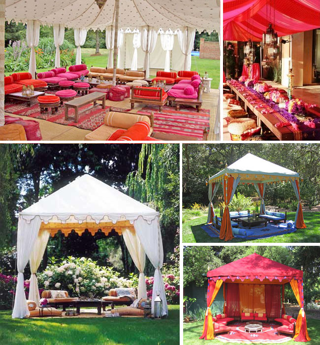 raj tents morocco & Bridal Shower Inspiration from Sex and the City 2