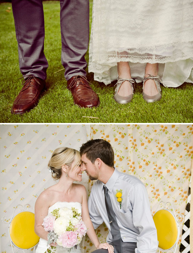 wedding shoes and photobooth backdrop
