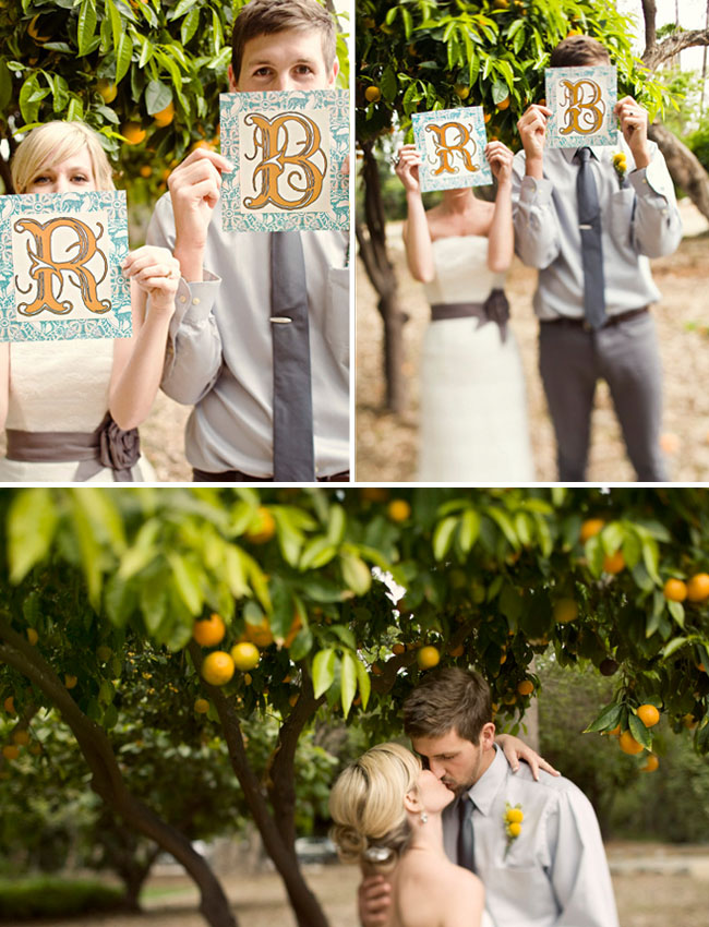 wedding artwork and orange grove