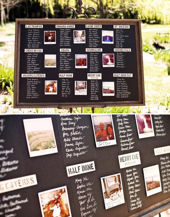 wedding table card display
