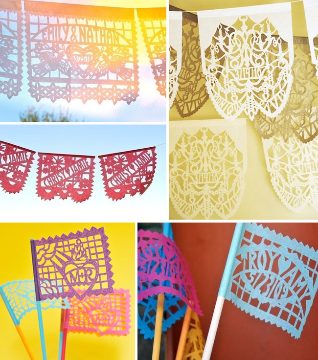 papel picados wedding decor