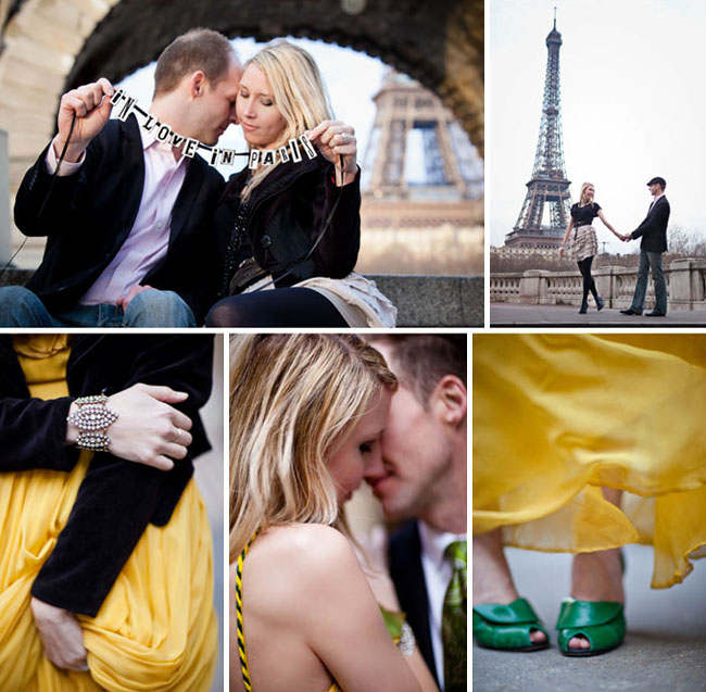 engagement photos in paris