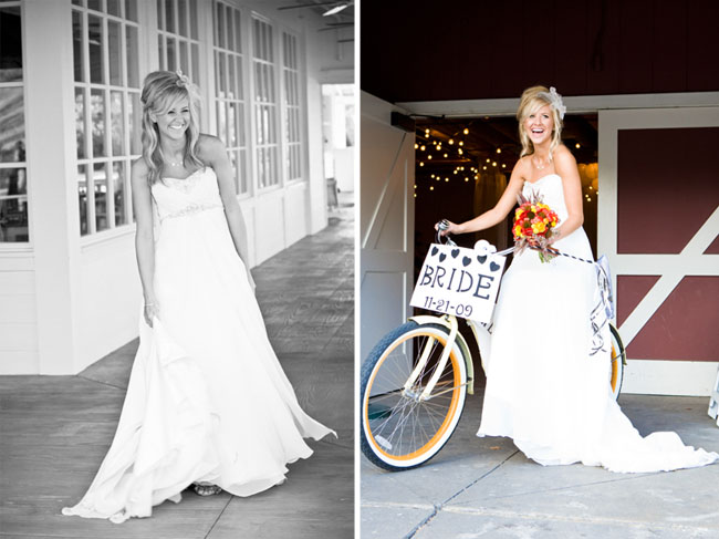bride with bike