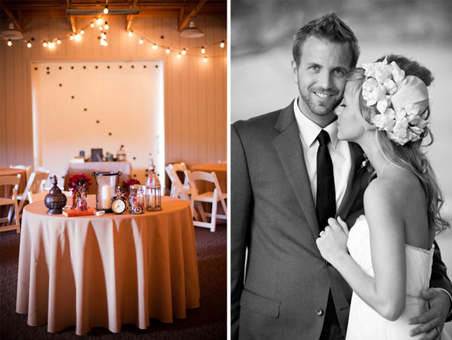 wedding reception barn california