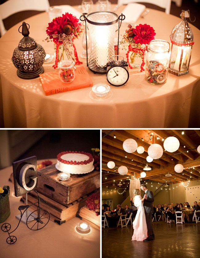vintage clocks wedding barns